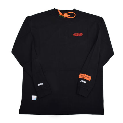Heron Preston Long Sleeve Pullovers Street Style Long Sleeves Plain Cotton