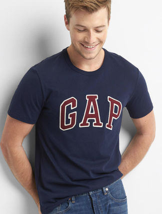 Plain Logos on the Sleeves T-Shirts
