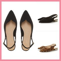 Lipsy Leopard Patterns Plain Party Style Pointed Toe Pumps & Mules