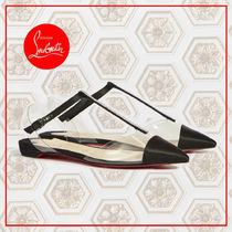 Christian Louboutin Nosy Casual Style Blended Fabrics Plain PVC Clothing With Jewels