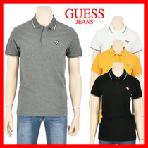 Guess Unisex Cotton Short Sleeves Polo Shirts