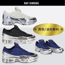 RAF SIMONS Ozweego Collaboration Plain Leather Sneakers