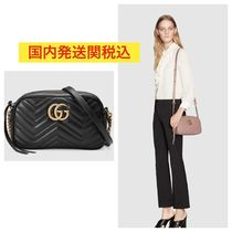 GUCCI GG Marmont Casual Style Street Style Chain Plain Shoulder Bags