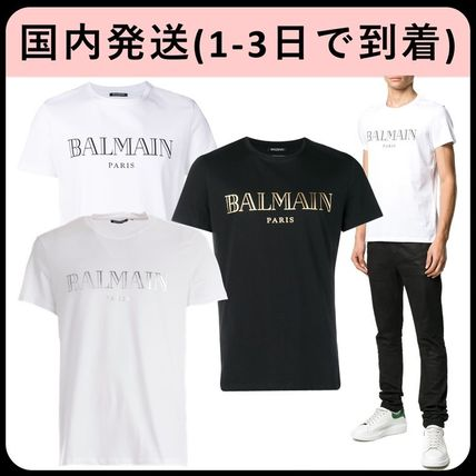 BALMAIN Crew Neck Crew Neck Short Sleeves Crew Neck T-Shirts