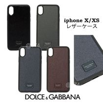 Dolce & Gabbana Unisex Leather Smart Phone Cases
