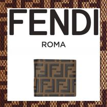 FENDI FOREVER Monogram Leather Focused Brands Folding Wallets