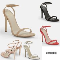 Missguided Open Toe Casual Style Plain Pin Heels Heeled Sandals