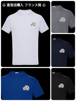 MONCLER Crew Neck Crew Neck Cotton Short Sleeves Crew Neck T-Shirts