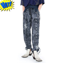 SETUP-EXE Printed Pants Unisex Street Style Patterned Pants