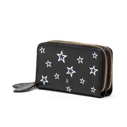 Star Leather Small Wallet Coin Cases