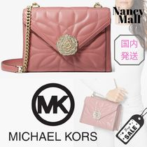 Michael Kors WHITNEY 2WAY Chain Plain Leather With Jewels Shoulder Bags