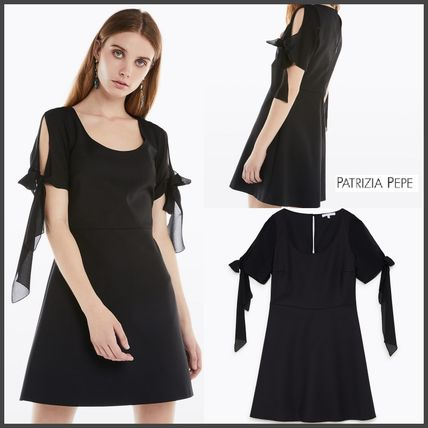 Plain Cotton Medium Dresses
