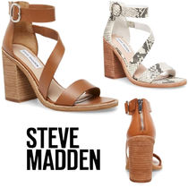 Steve Madden Open Toe Plain Other Animal Patterns Block Heels