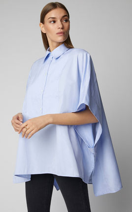 Street Style Plain Puff Sleeves Shirts & Blouses