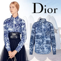 Christian Dior Blended Fabrics Street Style Bi-color Long Sleeves Cotton