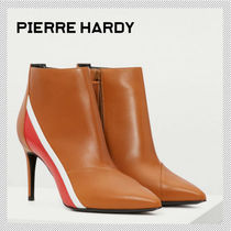 Pierre Hardy Plain Leather Pin Heels Elegant Style Ankle & Booties Boots