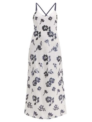 Flower Patterns A-line Sleeveless V-Neck Medium
