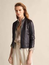 Massimo Dutti Short Leather Biker Jackets