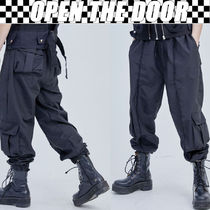 OPEN THE DOOR Street Style Oversized Cargo Pants