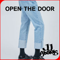 OPEN THE DOOR Street Style Oversized Jeans & Denim