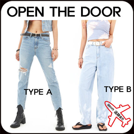 OPEN THE DOOR More Jeans Street Style Oversized Jeans
