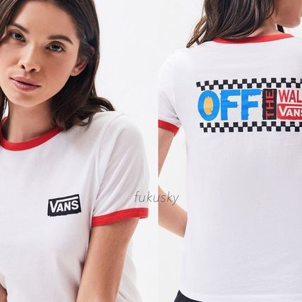 Crew Neck Street Style Cotton Short Sleeves T-Shirts