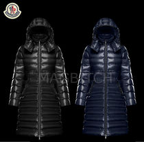 MONCLER MOKA Street Style Plain Long Down Jackets