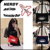 NERDY Casual Style Unisex Street Style Logo Shoulder Bags