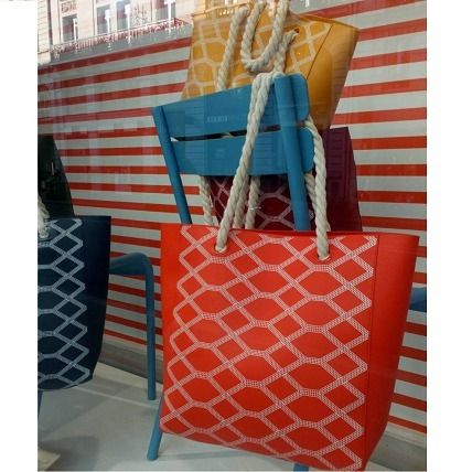 Other Check Patterns Casual Style A4 PVC Clothing Totes