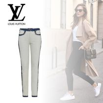Louis Vuitton Casual Style Denim Street Style Plain Skinny Pants