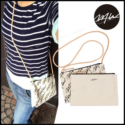 Casual Style Unisex 2WAY Shoulder Bags