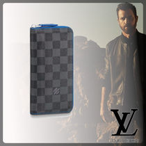 Louis Vuitton DAMIER GRAPHITE Leather Long Wallets