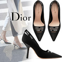 Christian Dior JADIOR Blended Fabrics Street Style Plain Leather Pin Heels
