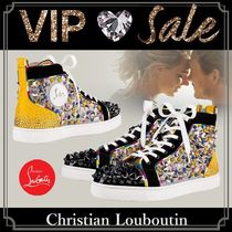 Christian Louboutin Blended Fabrics Studded Street Style Sneakers