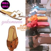 HERMES Oran Leather Sandals Sandal