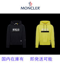 MONCLER Unisex Street Style Long Sleeves Cotton Hoodies