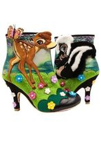 Irregular Choice Flower Patterns Plain Toe Casual Style Faux Fur