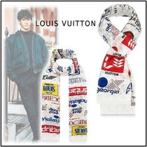 Louis Vuitton 2019-20AW MONOGRAM LOGO STOLE bron one size stole