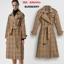 Burberry Other Check Patterns Elegant Style Trench Coats