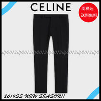 CELINE Wool Blended Fabrics Plain Cropped Pants