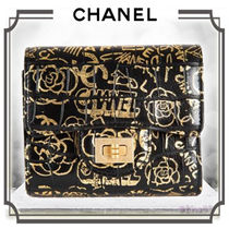 CHANEL Unisex Folding Wallets