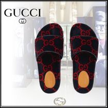 GUCCI GG Supreme Monogram Unisex Shower Shoes Shower Sandals