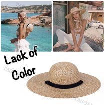 lack of color Unisex Street Style Handmade Straw Hats