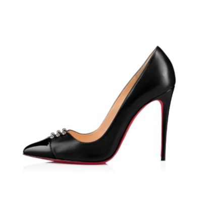 Christian Louboutin Pointed Toe Studded Plain Leather Pin Heels Pointed Toe Pumps & Mules 2