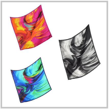 Casual Style Silk Tie-dye Accessories