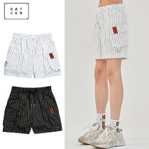ROMANTIC CROWN Stripes Unisex Street Style Cargo Shorts