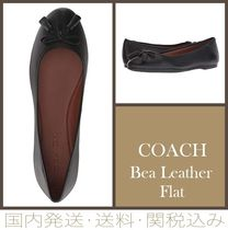 Coach 【SALE】Bea Leather Flat