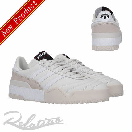 Stripes Round Toe Rubber Sole Lace-up Casual Style Leather