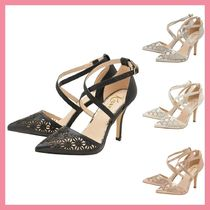 Lipsy Leather Pin Heels Party Style Pointed Toe Pumps & Mules