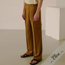 ANDERSSON BELL Street Style Plain Oversized Cargo Pants